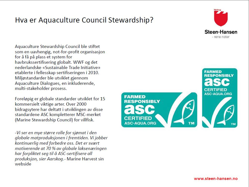 Aquaculture Council Stewardship